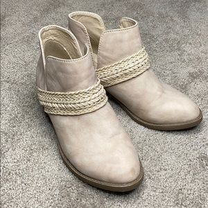 Like new tan ankle booties